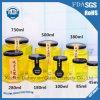 les chocs hexagonaux du miel 45ml-730ml, chocs d'encombrement, l'emboîtement de l'oiseau cogne le choc en verre sans plomb à haute teneur