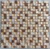 Mosaico di vetro del piccolo chip con la pietra e la resina Jy02k