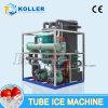 Máquina de hielo del tubo del regulador de programa del PLC de Koller 10 toneladas por el día (TV100)