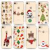 Caso ultra fino de la impresión TPU de la Navidad de la cubierta de la caja del teléfono celular para el iPhone 7 más 6 más