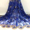Água francesa da tela do laço de Tulle do bordado nupcial do vestido de casamento do Voile - Applique líquido africano solúvel da flor da guipura