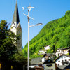 2016 Wind-hybride Straßenlaternesolar der Qualitäts-8m Pole 60W LED (