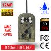 armadilhas infravermelhas da câmera dos animais selvagens da caça de 940nm 12MP MMS GPRS