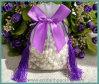 Glands Wedding le sac de cadeau de sucrerie d'organza avec le Bowknot en soie de bande