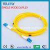Кабель волокна LC оптический, кабель оптического волокна одиночного режима LC, шнуры заплаты LC оптические