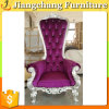 Роскошный деревянный пурпуровый король Стул случая ткани для живущий комнаты или гостиницы (JC-K1624)