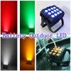 La IGUALDAD del disco LED de la iluminación de DJ conserva la luz de la IGUALDAD del LED luz ULTRAVIOLETA del efecto de etapa de 15W x de 12PCS los 6in I RGBWA LED