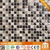 Interior vidrio cristalino del mosaico y mármol del mosaico (M815037)