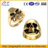 Anel de dedo quente do metal do crânio do ouro da venda