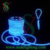Luzes de néon da corda do cabo flexível do diodo emissor de luz do azul ao ar livre, luz de tira de néon