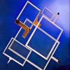 5.5 el panel de tacto de /F/G 4wire de la película de la pulgada/pantalla táctil resistentes brillantes