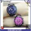 Relojes del cuarzo del nuevo estilo Yxl-190 2016 del reloj de la goma de la marca de fábrica de los hombres del deporte del reloj de la muñeca de los hombres de lujo de encargo esqueléticos de la buena calidad