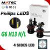 Luz principal do diodo emissor de luz da auto peça 4800lm a Philips H13 da iluminação para o carro