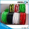Плоская/круглая пластичная цепь, цепь зеленого цвета черноты желтого цвета голубого красного цвета пластичная для предупреждающий столба