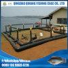 Ферма культуры клетки 5mx5m Уганда Tilapia HDPE плавая