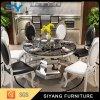 التصميم الحديث الذهب غرفة الطعام مجموعة الطاولة المستديرة