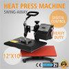 Oscilación de Vevor Digital lejos 12 máquina de la sublimación de la camiseta de la transferencia de la prensa del calor de  X 10  (30 los x 24cm)