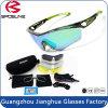 O frame verde fresco quente ostenta óculos de sol de ciclagem do brilho Anti-Forte dos vidros com lente e caso extra