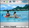 Fabricación profesional se sientan encima de viaje Claro Transparente Kayak