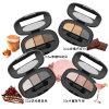 Sombra de ojo desnuda descubierta del maquillaje del sombreador de ojos de 3 colores del metal duradero de la gama de colores Es0326