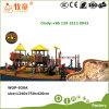 Kind-im Freienspielplatz-helle zusammenfassende Sonnenschein-Serien-Plättchen