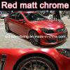Più nuova automobile opaca che sposta l'autoadesivo opaco rosso dell'automobile del bicromato di potassio del vinile