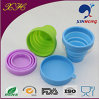 Lid를 가진 Eco-Friendly Silicone Folding Cup