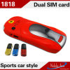 1818 Doppel-SIM Karten-Doppelbandfarben-Miniauto-Form-Art-Stab-Handy