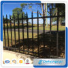 Cerca usada del hierro labrado del negro de la seguridad de 3000*1700m m con diseños de la capa del polvo/el cercado de acero galvanizado decorativo del jardín/de la piscina