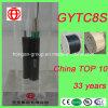 Figura Self-Supporting 8 cabo de fibra óptica do núcleo de GYTC8S 6 da costa de aço da forma para a antena