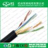 Câble en bloc Cmx/Cm/Cmg de jupe UV extérieure de CAT6 UTP