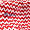 2014 la maggior parte del Popular Baby Minky Fabric Zigzag Chevron Design per Baby Sofa Baby Garment Baby Clothing Red e White