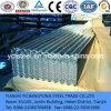 Feuilles en acier galvanisé ondulé pour toiture