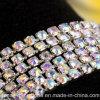 3.5mm/Ss14 Clear Ab Rhinestones Brass Chain Trim para Wedding Decor