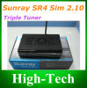 Sunray4 800se Sr4 WiFi SIM2.10 Sunray4 HD SE Sr4 Triple Tuner DVB-S (S2)/DVB-C /T Satellite Receiver