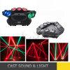 Tête d'araignée de lumière d'étape de faisceau de 9 yeux DEL