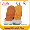 De beste Handschoenen van het Werk van de Bedrijfsveiligheid van de Winter van de Vuisthandschoen van het Leer van de Zweep (12309)