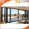 Portello di vetro Bifold di alluminio della rottura termica per la villa