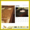 Natural Polished Yellow/Black Granite Countertop for Home and Hotel