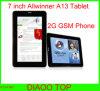 tabuleta Android de 7inch Allwinner A13 com o telefone de Bluetooth 2g G/M (F761B)
