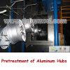 Ligne de pulvérisation pour des pièces d'aluminium de voiture