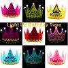 Gelukkige LEIDEN van de Verjaardag Licht dat omhoog de Hoofdband van de Kroon van de Tiara van Jonge geitjes opvlamt