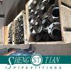 Instalación de tuberías de acero de los rebordes ocultos