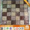 Gloden Foil ducha pared del sitio del mosaico de vidrio (G848014)