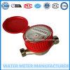 Contador del agua de chorro único, latón Cuerpo, del tipo de marcación en seco