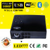 2W Speaker*2/3.5mm Audio-heraus DLP LED777 Android WiFi Bluetooth Projector