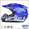Capacete azul Shining fresco de Motorcross com PONTO dos grafittis (CR402)