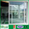 Puertas deslizantes de aluminio revestidas del polvo con el vidrio Tempered doble Pnoc0011