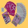 Cor cheia brandnew que anuncia cartões de jogo do papel