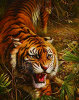 熱いSelling 3D Abstract Tiger Diamond Wall Art Painting